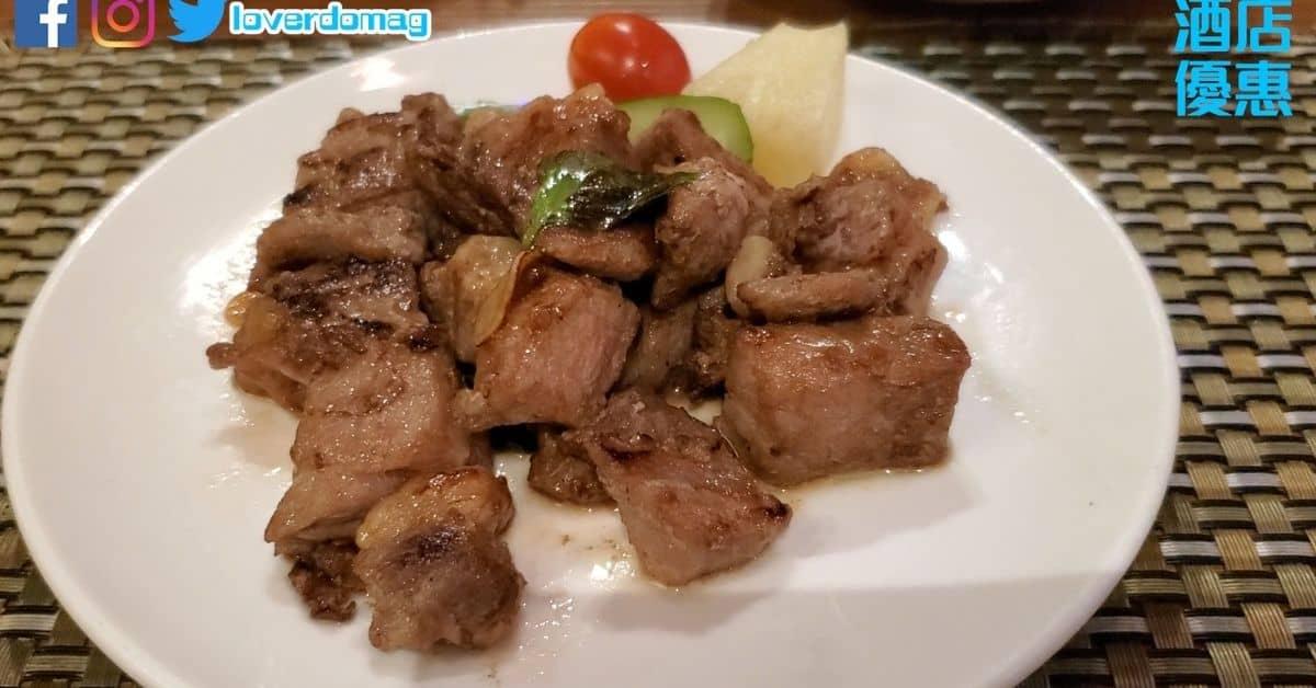 清萊蒜片炒黑毛和牛粒