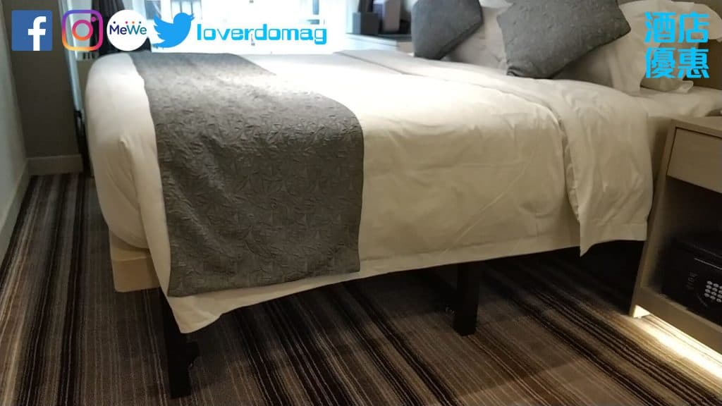 銅鑼灣頤庭酒店-雙人床床底